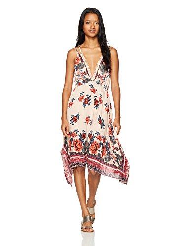 4e50b7057b3 Amazon.com  Angie Women s Strappy Deep V Sundress with Sharkbite Hem   Clothing