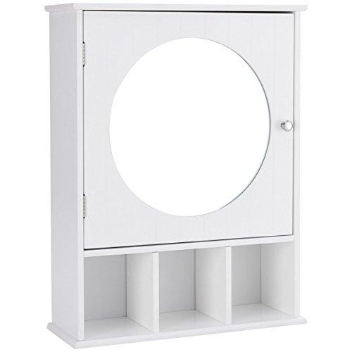 Amazon.com: Wall Mount Bathroom Cabinet Mirror Door