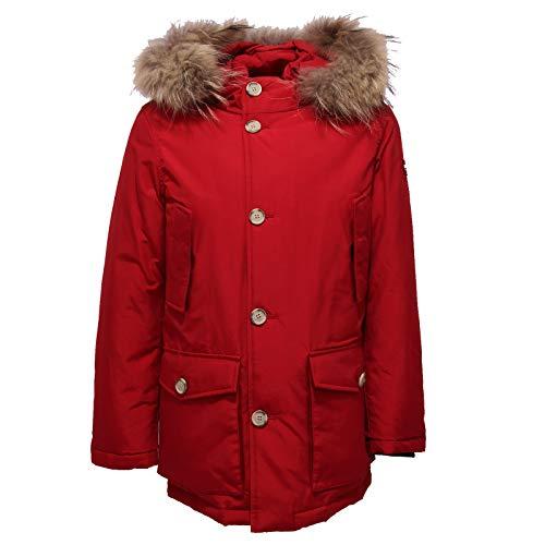 Rosso 6370x Parka Boy Red Jacket Woolrich Detachabl Piumino Bimbo R87c5xna