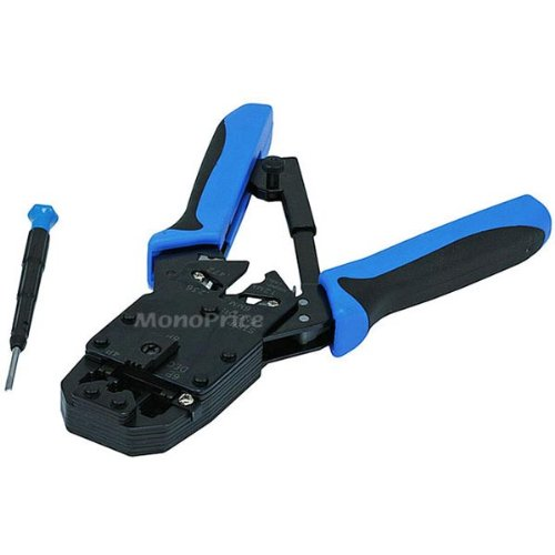 (Monoprice Professional Modular Crimps, Strips and Cuts Tool with Ratchet)