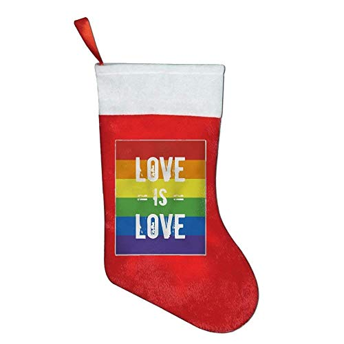 coconice Love is Love Rainbow Felt Christmas Stocking Party Accessory by coconice