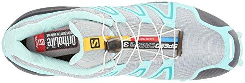 Salomon Damen Speedcross 3 Traillaufschuhe, Blau, 42 Eu Grijs (licht Onix / Topaas Blauw / Donkere Wolk)