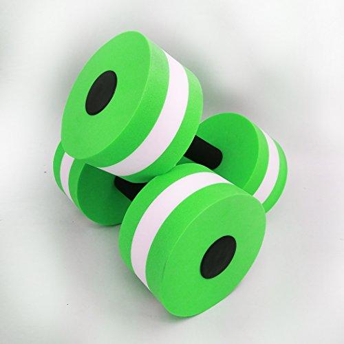 Zeyu Sports Aquatic Exercise Dumbbells - Set of 2 - For Water Aerobics (GREEN)