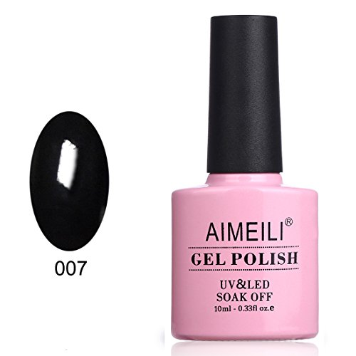 AIMEILI Soak Off UV LED Gel Nail Polish - Blackpool (007) 10ml]()