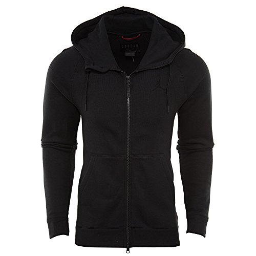 Nike mens JSW WINGS FLEECE FZ 860196-010_M - BLACK/BLACK by Jordan
