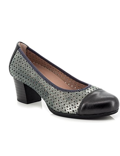 Zapato Pitillos De Piel Negro 1047 Negro