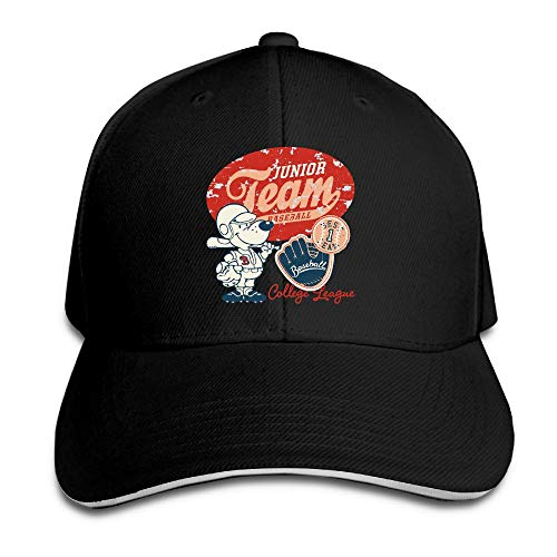 SakanpoBaseball Player Cap Unisex Low Profile Cotton Hat Baseball Caps Black