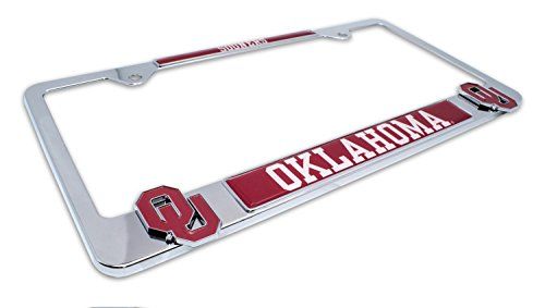 (AMG Premium NCAA OU Sooners Mascot License Plate Frame w/dual 3D logos (Oklahoma) )