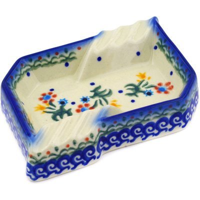 Polish Pottery Ashtray 5-inch Spring Flowers