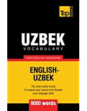 Uzbek vocabulary for English speakers - 9000 words
