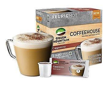 Green Mountain Cappuccino, Keurig K-Cups, (6 COUNT)