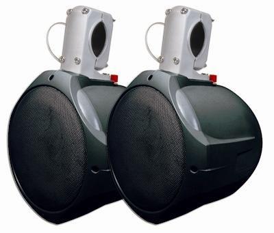 MCM Custom Audio Marine Wakeboard Speaker Pair Black 6.5 Inch Two Way