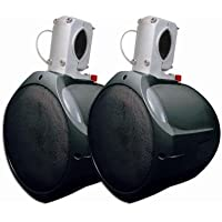 MCM Custom Audio 60-10021 Marine Wakeboard Speaker Pair Black 6.5 Inch Two Way