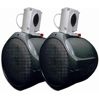 MCM Custom Audio 60-10031 8-Inch 130W/260W Black Marine Wakeboard Two-Way Speaker (Pair)