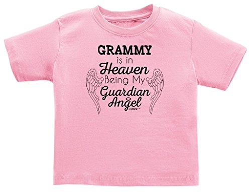 Grammy in Heaven Being My Guardian Angel Infant T-Shirt 6 Months Pink