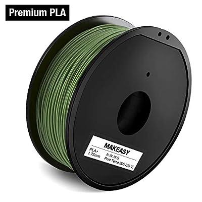 PLA Plus Premium PLA Filament 1.75mm, 1 kg Spool, 3D Printer Filament for All 3D Printers(Olive Green)