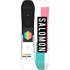 The Salomon Huck Knife Grom provides a wide range of smaller sizes for your up and coming park and freestyle senders. Salomon���s Quad Camber design provides the Huck Knife Grom with the aggressive characteristics of chamber, blended with roc...
