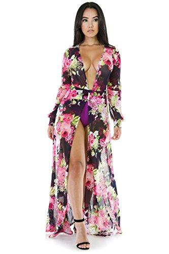 829d8524dcb GITI ONLINE Floral See-Trough Maxi Dress M Multi Print