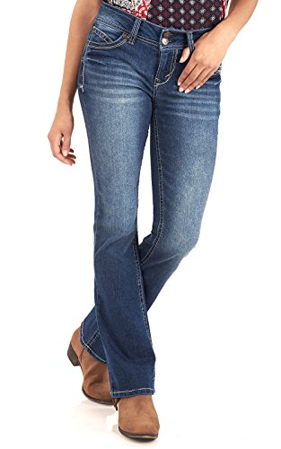 WallFlower+Juniors+Luscious+Curvy+Basic+Bootcut+Jeans+in+Addison+Size%3A17