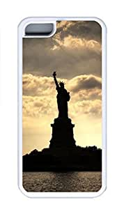 taoyix diy iPhone 5C Case, Personalized Custom Rubber TPU White Case for iphone 5C - Statue Of Liberty Cover