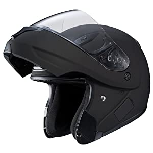 HJC CL-MAXBT II Bluetooth Modular Motorcycle Helmet (Matte Black, XX-Large)