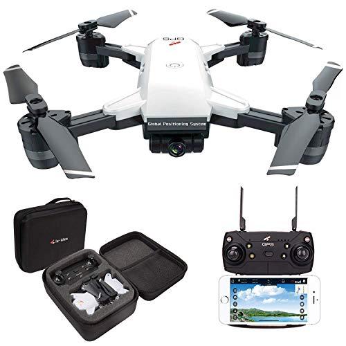 le-idea GPS Drones con Camara 2K Profesional, 5G WiFi FPV Quadcopter con Camara HD con Modo sigueme, 120º Gran Angular, RTF Altitude Hold, Modo Sin Cabeza y Retorno a Casa【Actualizar IDEA10】