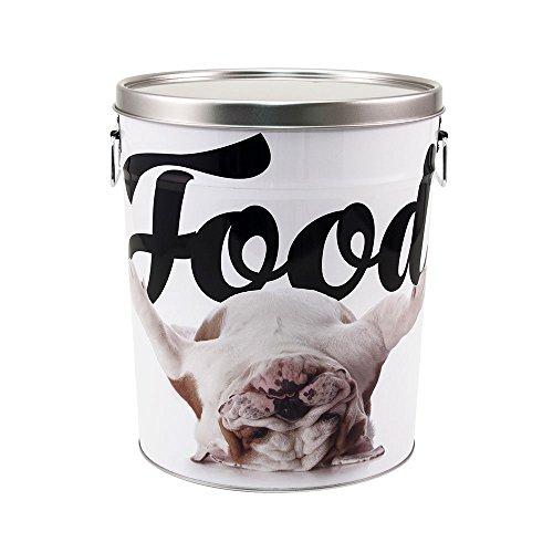 Paw Prints 37669 15 lb. Tin Pet Food Container, Design, 10.25