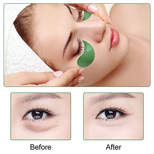 41Nl0xinQfL - Under Eye Patches Teamyo Collagen Eye Masks,Reduce Dark Circles & Puffiness Eliminate Eye Bags, Natural Eye Treatment Masks with Anti Wrinkles & Anti Aging, Moisturizer Deeply, 30 Pairs-Green