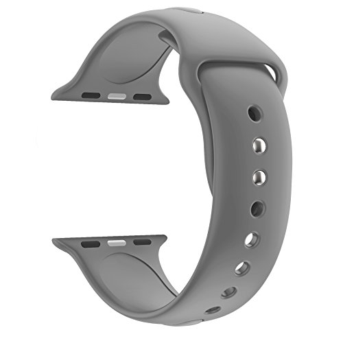Price comparison product image HUANLONG wu8199 Huanlong 42mm New Soft Silicone Sport Style Replacement Iwatch Strap Band For Apple Wrist Watch Series 1/2/3(Fog 42mm M/L)