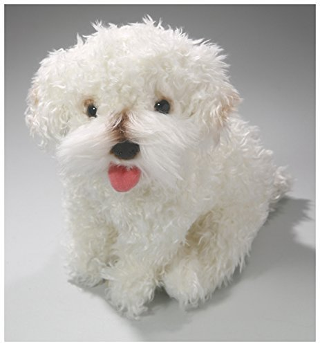 (Carl Dick French Poodle White Sitting, 10.5 inches, 25cm, Plush Toy, Soft Toy, Stuffed Animal 3370)