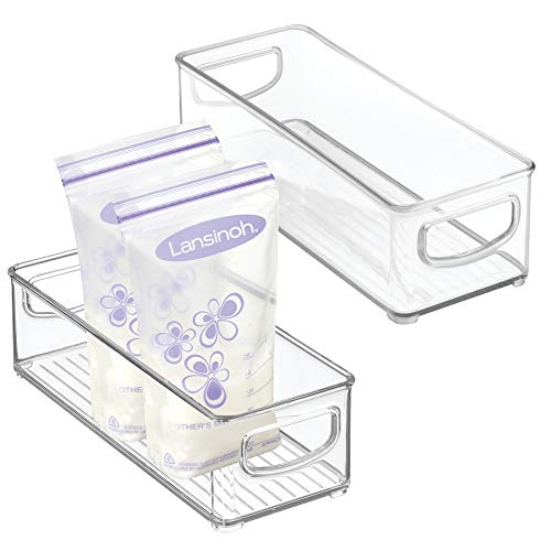 mDesign Baby Food Kitchen Refrigerator Cabinet or Pantry Storage Organizer