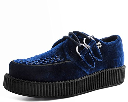 (T.U.K. Shoes V9269 Unisex-Adult Creepers, Midnight Blue Velvet Creeper - US: Mens 9 / Women 11)