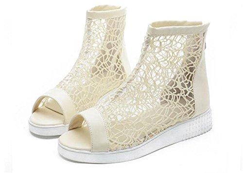42 41 gran gruesas mujeres de para encaje bomba beige sandalias Toe 40 botas 43 botas las fresco Peep encantadora tamaño qFgRBw