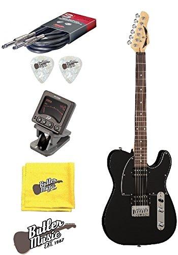 Dean NV CBK nashvegas tele estilo guitarra eléctrica w/afinador de clip + más: Amazon.es: Instrumentos musicales