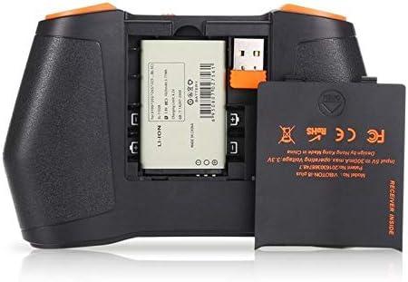 WXK Mini Clavier sans Fil I8 Plus sans Fil 2,4 GHz 3 Couleurs Rétro-éclairage Clavier avec Souris Touchpad for Android TV Box PC Portable