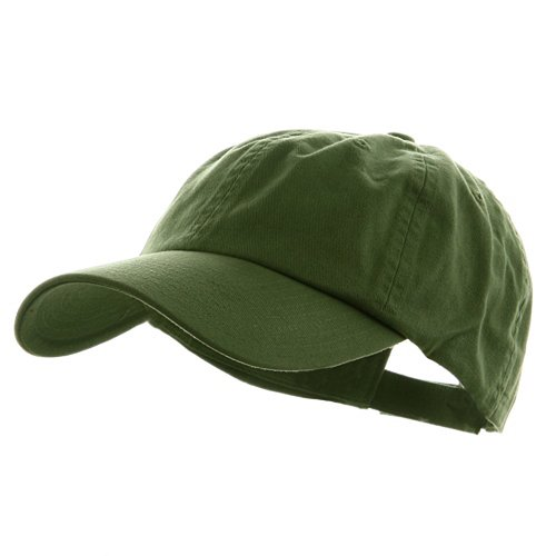 MG Low Profile Dyed Cotton Twill Cap - Cactus OSFM (E4hats Cotton Flap Hat)