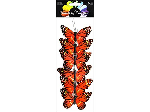 "Midwest Design Imports 6 Piece Butterfly Feather Monarch, 3"" from Midwest Design Imports, Inc."