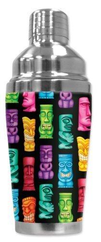 Mugzie 199-SHA  Tikis  Cocktail Shaker with Insulated Wetsuit Cover, 16 oz, schwarz by Mugzie B018FAZFL0 Cocktailshaker