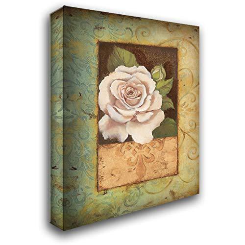 Antique Rose I 20x24 Gallery Wrapped Stretched Canvas Art by Jeffrey, Jillian (Jillian Jeffrey Antique)