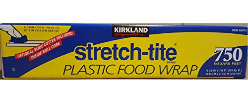 Kirkland Signature Stretch Tite Plastic Food Wrap 11 7/8 Inch X 750 SQ. FT. (Plastic Rap)
