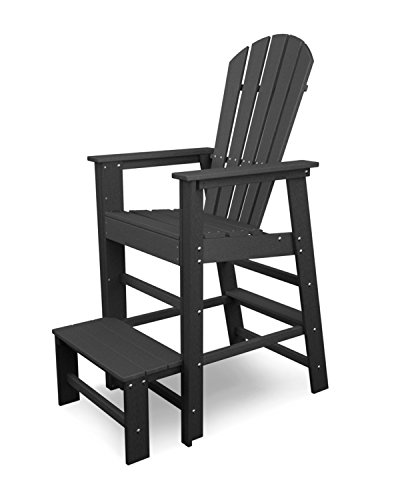 Polywood Shell (Shell Back Lifeguard Chair Finish: Slate Grey)