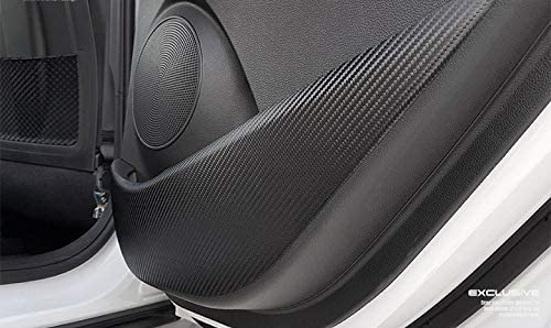 Aoneparts Carbon Look Inside Door Covers with Red Sticker for 2017 2018 2019 Hyundai Kona