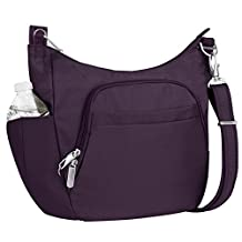 Travelon Anti-Theft Cross-Body Bucket Bag, Purple, One Size