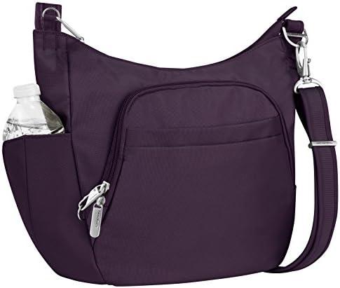 Travelon Anti Theft Cross Body Bucket Purple