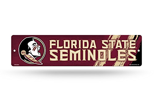 NCAA Florida State Seminoles 16-inch Plastic Street Sign Décor