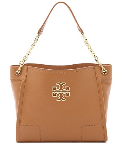 Tory Burch Britten Small Slouchy Tote in Bark Style No 39057