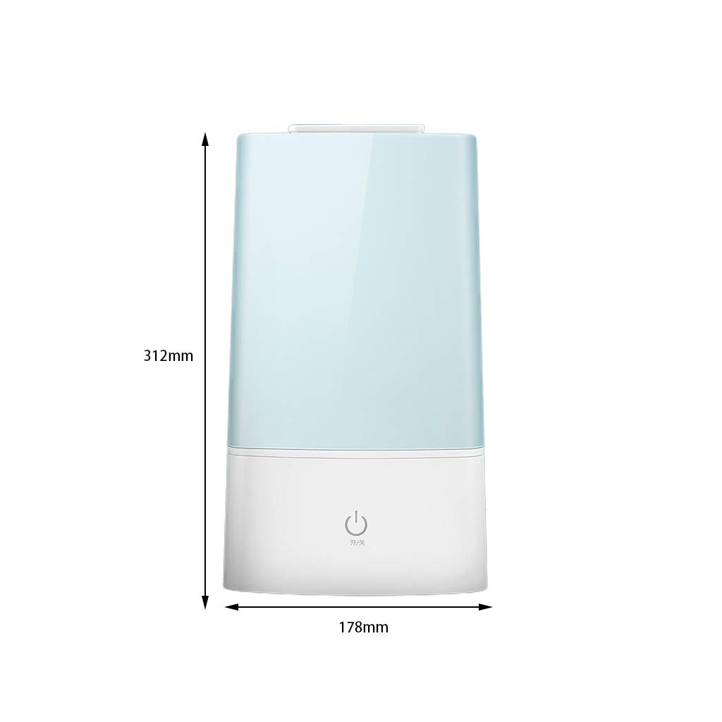 Red cloud Ultrasonic Cool Mist Humidifier - Premium Humidifying Unit with 3L Water Tank,Transparent Water Tank, Automatic Shut-Off and Night Light Function - Lasts Up to 15 Hours by Red cloud (Image #7)