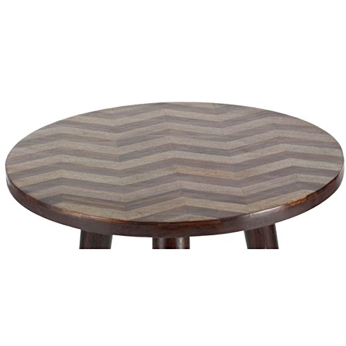Studio 350 Wood Rd Accent Table 18 inches wide, 22 inches high by Studio 350 (Image #1)