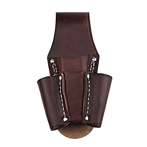 NKTM Leather Electrician's Pocket Leather Tool Pouch Heavy Duty Tool Pouch with 4 Pockets by NKTM