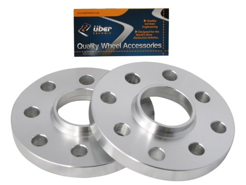 (2) 15mm Thick 4x100 & 4x108 Hubcentric UberTechnic Wheel Spacers (57.1mm bore) for E30 3-Series 318i 318is 325i 325e 325is, Audi 4000 Coupe Quattro, VW Golf Cabrio Corrado Jetta ()